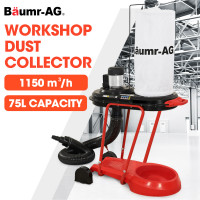 Baumr-AG Mobile Dust Collector Cyclone Extraction System, for Home Woodworking Workshop