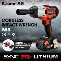 BAUMR-AG IW3 20V SYNC Cordless Impact Wrench Gun Kit with Battery and Fast Charger