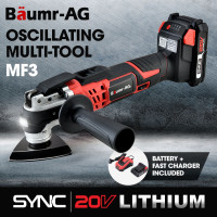 BAUMR-AG MF3 20V SYNC Cordless Oscillating Tool Kit with Battery and Fast Charger