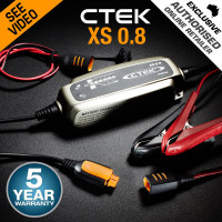 CTEK XS0.8 Model 6 Stage Trickle Smart Battery Charger 12V Bike Car Boat ATV