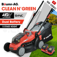 BAUMR-AG 40V Cordless Lawn Mower Kit, with Charger and Batteries