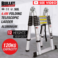 4.4m Multipurpose Aluminium Telescopic Folding Ladder Alloy Extension Steps