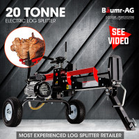 Baumr-AG 20 Ton Hydraulic Electric Log Splitter- HPS4500E