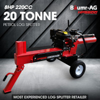 BAUMR-AG 20 Ton Hydraulic Petrol Wood Log Splitter HPS600