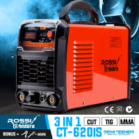 ROSSI CT-620iS TIG/MMA Plasma Cutter Portable Inverter Welder Welding