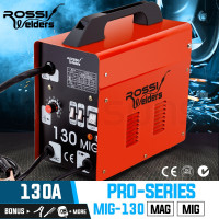 ROSSI 130Amp MIG Gas Gasless Welder Metal Inert Welding Machine Tool