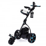 THOMSON Golf Buggy Electric Trolley Automatic Motorised Foldable Cart LED Black