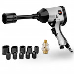 "UNIMAC Air Impact Wrench Kit 17pc 1/2"" Rattle Gun Set Socket Pneumatic Metric"
