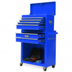 Blue Box Storage Wheels Chest Cabinet Tool Kit Set