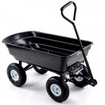 PLANTCRAFT 250kg Poly Pull Dump Cart Garden Hand Trailer Wagon Lawn Wheelbarrow
