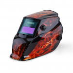 ROSSI Black Flames Solar Auto Darkening Welding Helmet Mask MIG/ARC/TIG Welder Machine