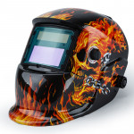 ROSSI Burning Skull Solar Auto Darkening Welding Helmet Mask MIG/ARC/TIG Welder Machine