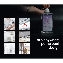 LOVEMEE 12 x 500ml 75% Alcohol Anti-Bacterial Hand Sanitiser Gel with Aloe Vera Pump Bottle Bulk Pack by Lovemee