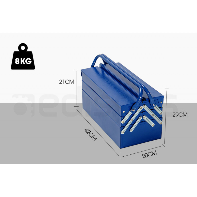 BULLET 118pc Metal Cantilever Tool Kit Box Set with Cordless Screwdriver, Blue by Bullet Pro