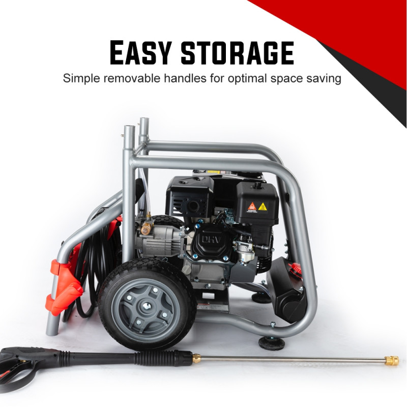 JET-USA 4800PSI Petrol Powered High Pressure Washer w/ 30m Hose Reach and Drain Cleaner - CX760 Gen IV by Jet-USA