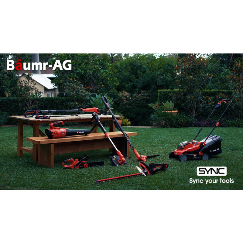 Baumr-AG HH3 20V SYNC Cordless Electric Hedge Trimmer with Battery and Fast Charger Kit by Baumr-AG