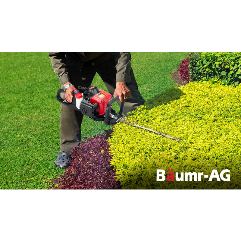BAUMR-AG 24cc 2-Stroke Petrol Hedge Trimmer, TruSharp Blade, Swivel Handle by Baumr-AG