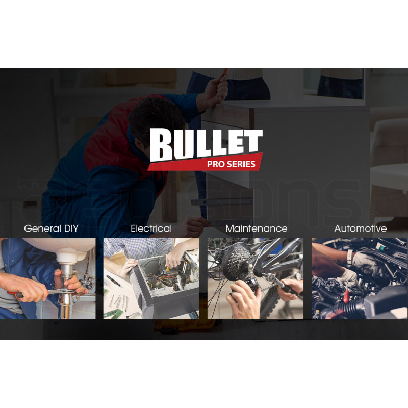 BULLET 925PC Tool Box On Wheels, Black by Bullet Pro