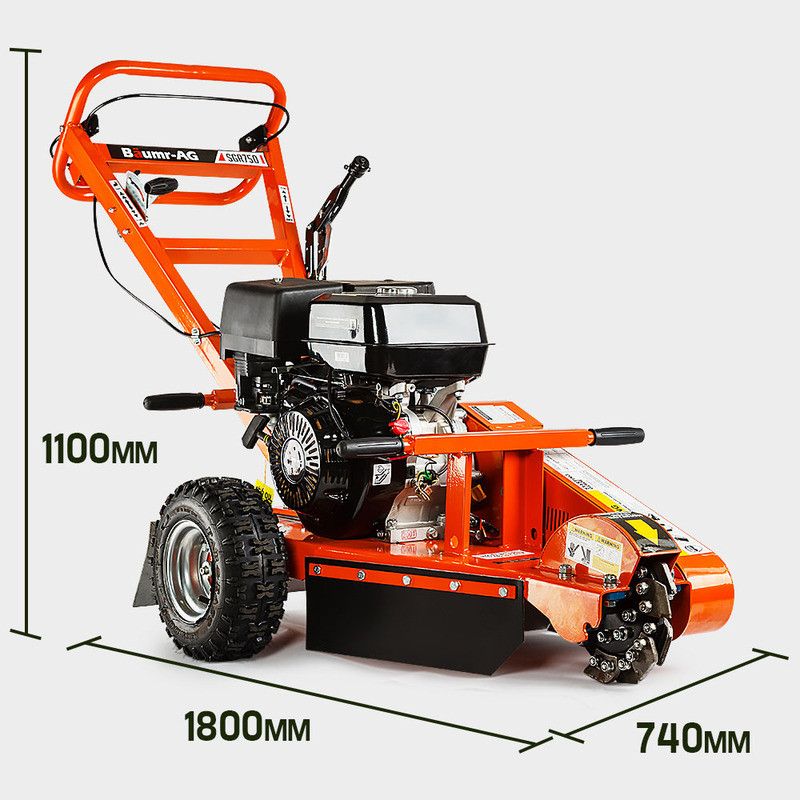 BAUMR-AG 18hp Petrol Stump Grinder - SGR750 by Baumr-AG