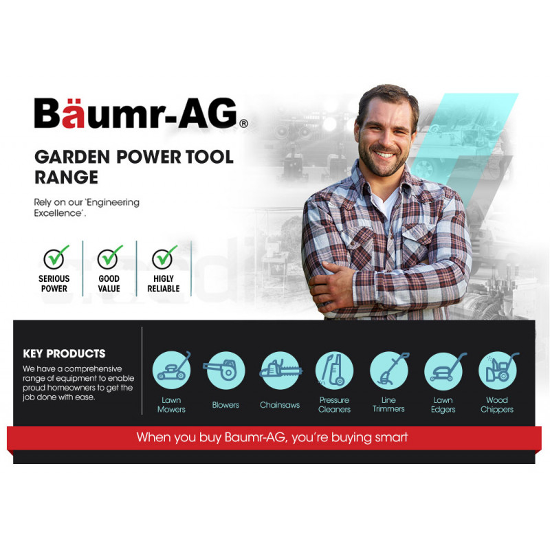 BAUMR-AG Cordless 2 in 1 Pole Chainsaw and Hedge Trimmer Combo Kit, with 20V SYNC Battery and Charger by Baumr-AG