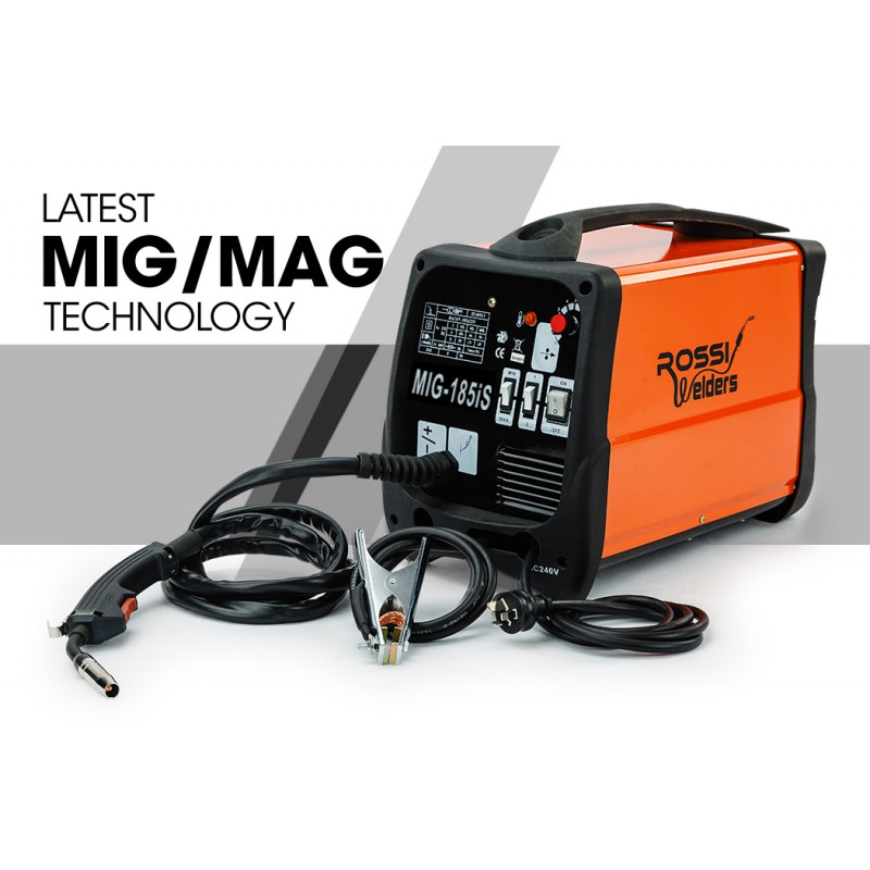 ROSSI 185 Amp Portable Mig Mag Inverter Welder 185A by Rossi