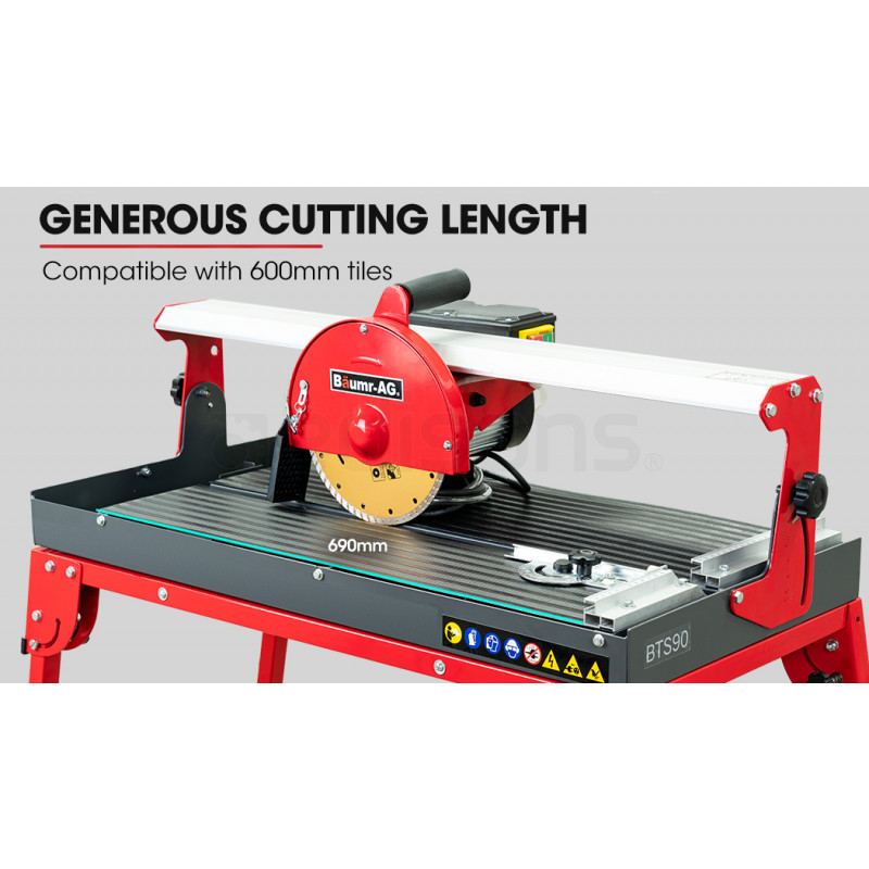 """BAUMR-AG 800W 620mm Electric Wet Tile Saw Cutter with 200mm (8"""") Blade by Baumr-AG"""