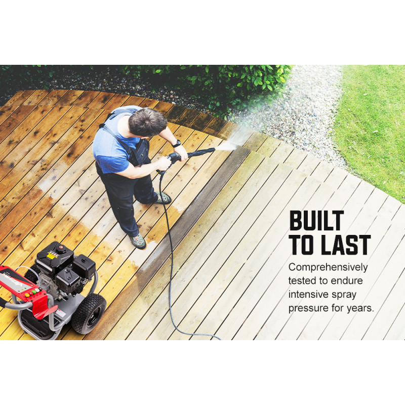 Jet-USA 4800PSI Petrol High Pressure Cleaner Washer w/ 30m Hose Reach and Drain Cleaner - TX770 by Jet-USA