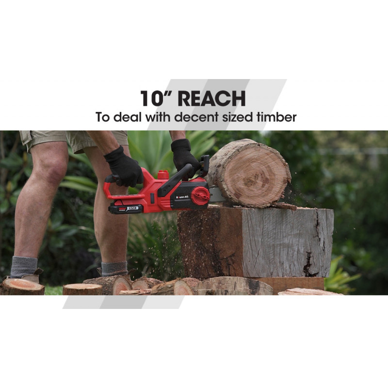 """Baumr-AG 20V Lithium-Ion 10"""" Cordless Electric Chainsaw OREGON Bar and Chain by Baumr-AG"""
