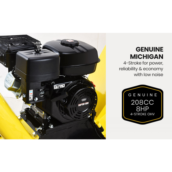 MICHIGAN 8HP 208cc Petrol Wood Chipper Mulcher  by Michigan