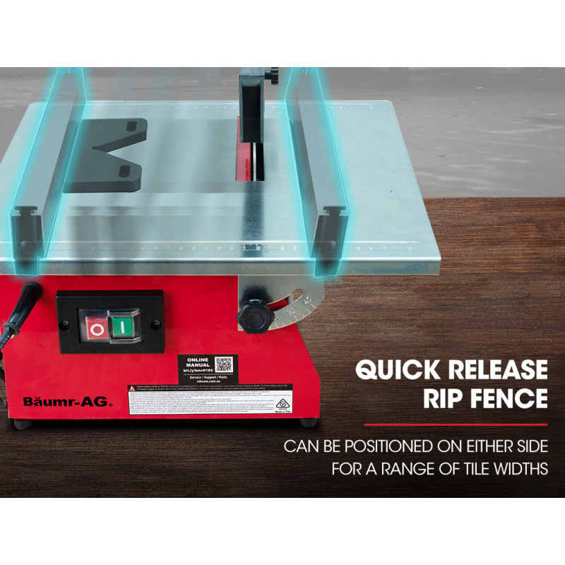 BAUMR-AG 180mm 600W Table Top Tile Saw Wet Cutter by Baumr-AG