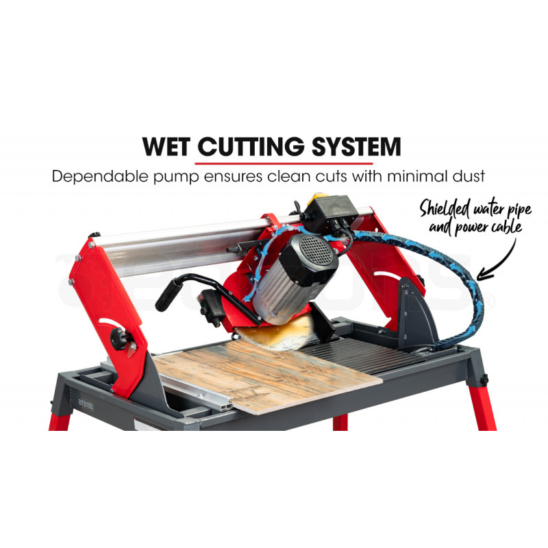 """BAUMR-AG 1500W 665mm Electric Wet Tile Saw Cutter with 250mm (10"""") Blade by Baumr-AG"""