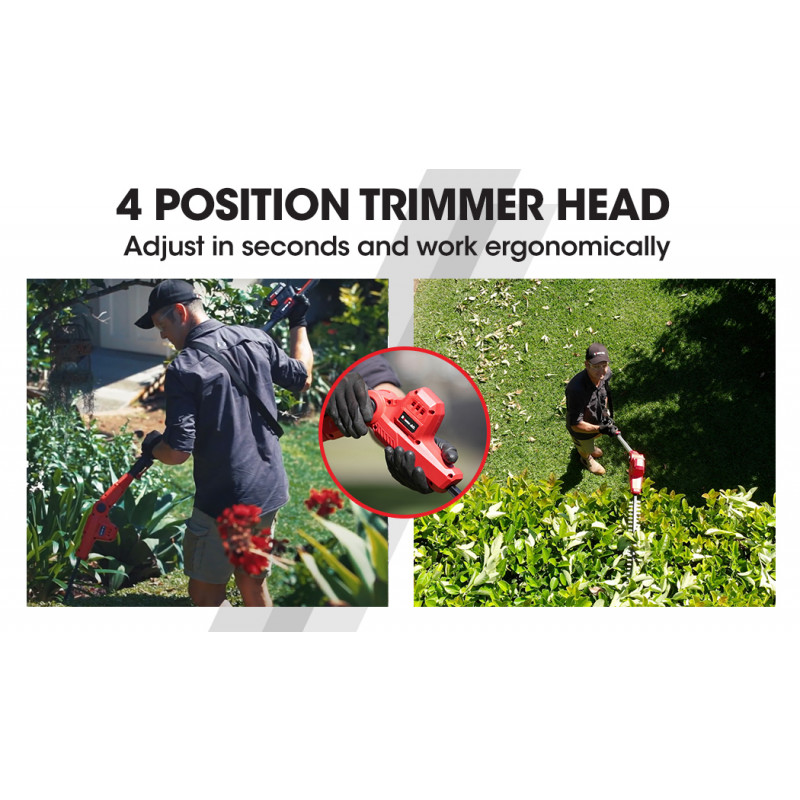 Baumr-AG 20V SYNC Cordless Pole Hedge Trimmer with Battery and Charger Kit by Baumr-AG
