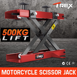 T-REX Motorcycle Jack Scissors Lift Bike Lifter Stand Hoist Quad Motorbike by T-Rex