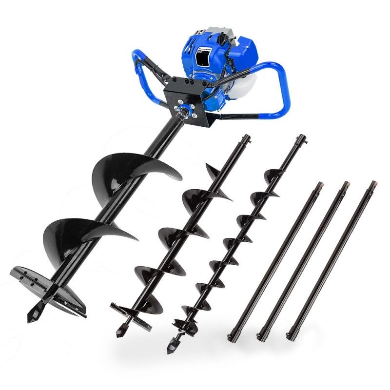 POWERBLADE Post Hole Digger 75CC Posthole Earth Auger Fence Borer Petrol Drill by PowerBlade