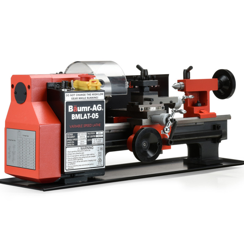 "BAUMR-AG 400W 7""x12"" Variable-Speed Mini Metal Lathe by Baumr-AG"