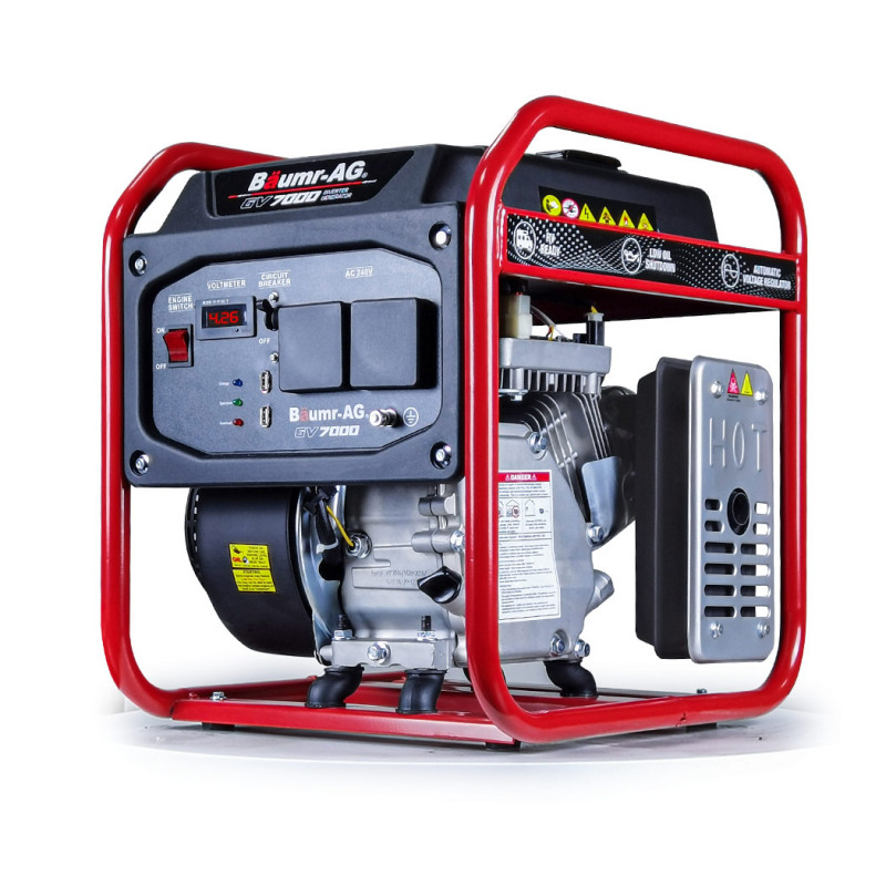 BAUMR-AG 3.5kVA Max 3.1kVA Rated Portable Open-Frame Inverter Generator					 by Baumr-AG