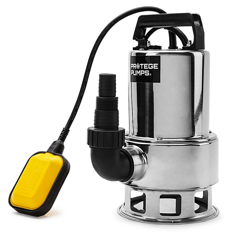 PROTEGE 1500W Submersible Dirty Water Pump Bore Tank Well Steel Automatic Clean by Protege