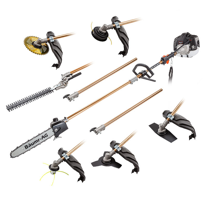 Baumr-AG Pole Chainsaw Brush Cutter Whipper Snipper Hedge Trimmer Saw Multi Tool by Baumr-AG