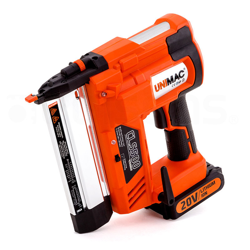 UNIMAC Brad Nailer Staple Gun Cordless 2-in-1 Lithium 20V Nail Gun 18ga Nails by Unimac