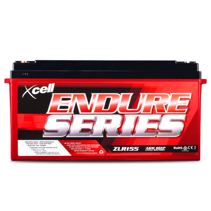 X-CELL AGM Deep Cycle Battery 12V 155Ah Portable Sealed Endure Series - ZLR155 by X-Cell