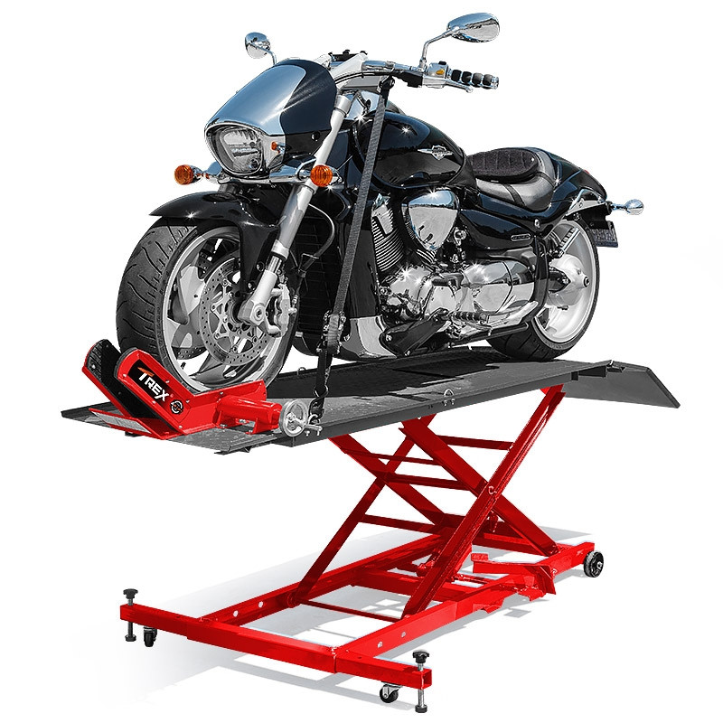 T-REX Motorcycle Lift Table Compressed Air Bike Stand Jack Hoist Motorbike by T-Rex