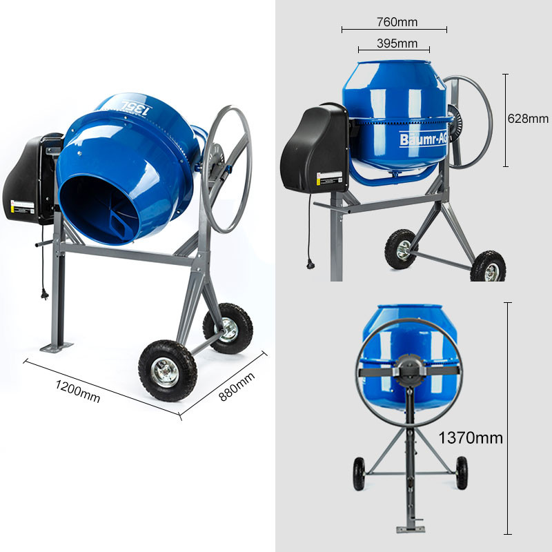 Baumr-AG  210L Portable Electric Concrete Cement Mixer by Baumr-AG
