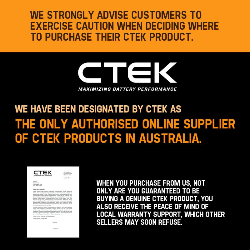 CTEK Comfort Indicator Cig Plug Battery Charger Power 56-870 Connector Cable by CTEK