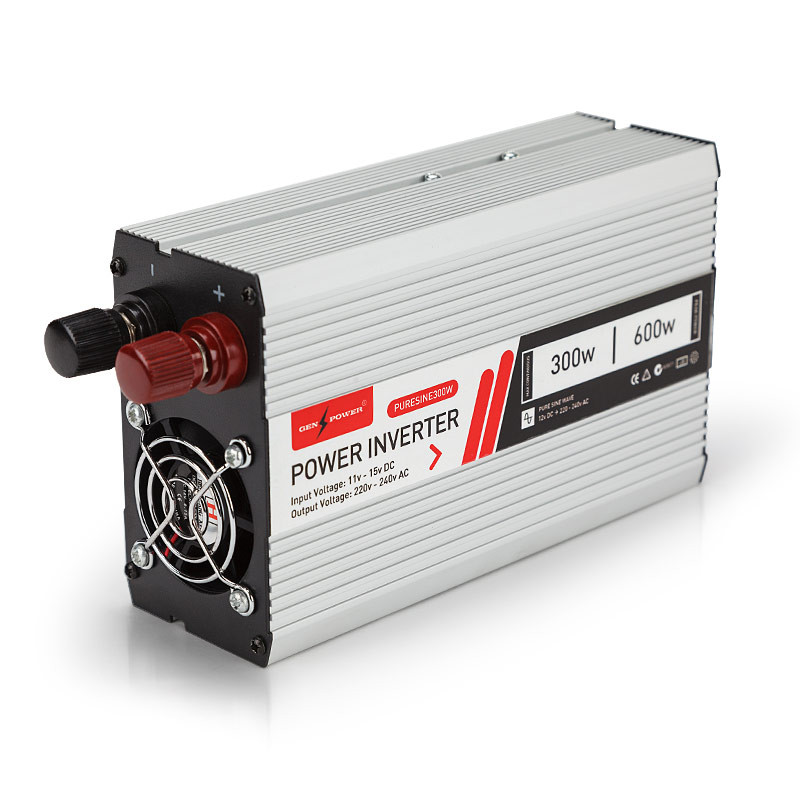 GENPOWER 300W/600W Pure Sine Wave 12V/240V Power Inverter Car Plug Caravan Boat by Genpower