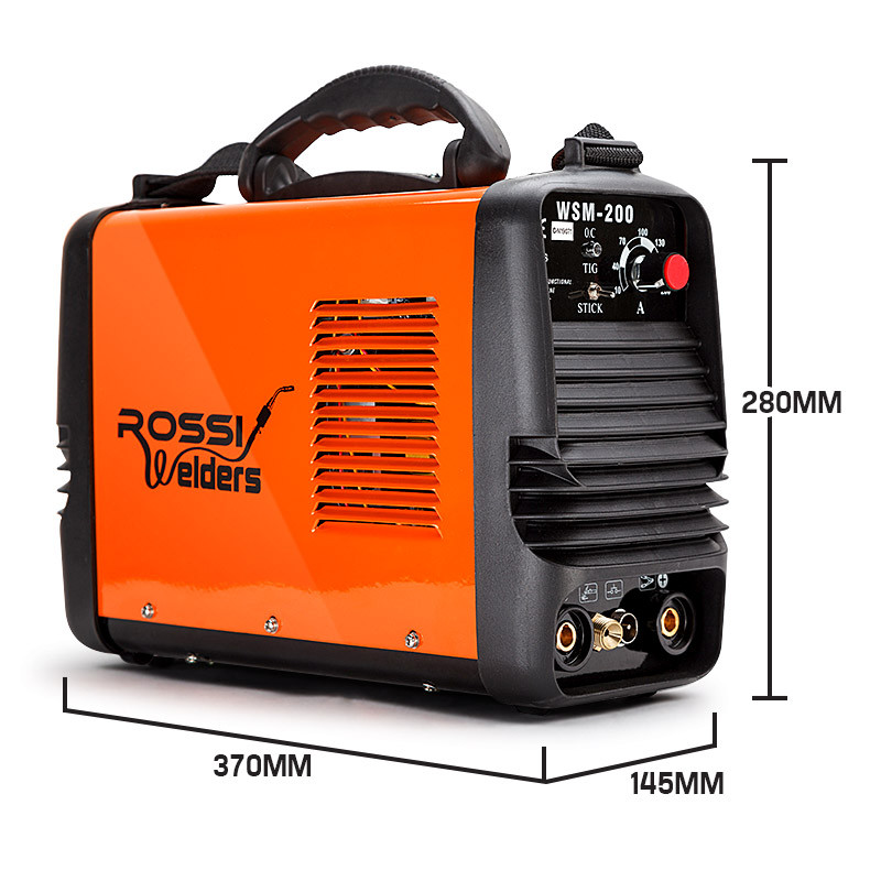 ROSSI Welder Inverter 200 Amp Welding Machine TIG ARC MMA DC WSM200 Portable by Rossi