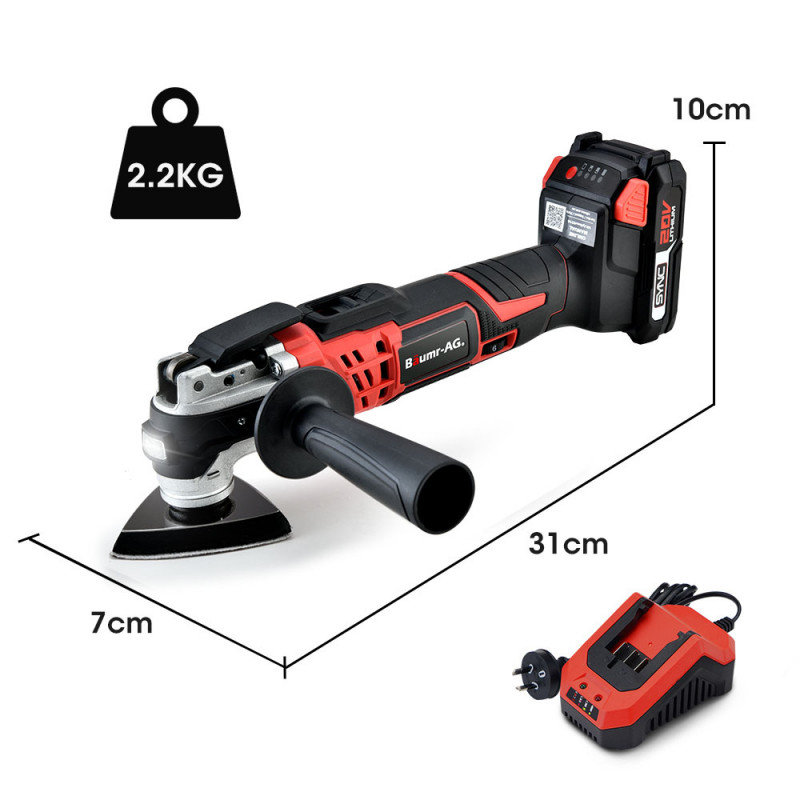 BAUMR-AG MF3 20V SYNC Cordless Oscillating Tool Kit with Battery and Fast Charger by Baumr-AG