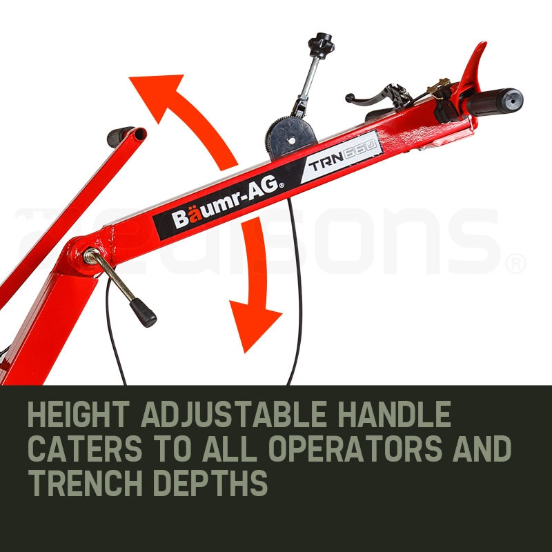 "Baumr-AG Trencher 600mm / 24"" Trench Ditch Digger 4-stroke Petrol Chain Driven by Baumr-AG"