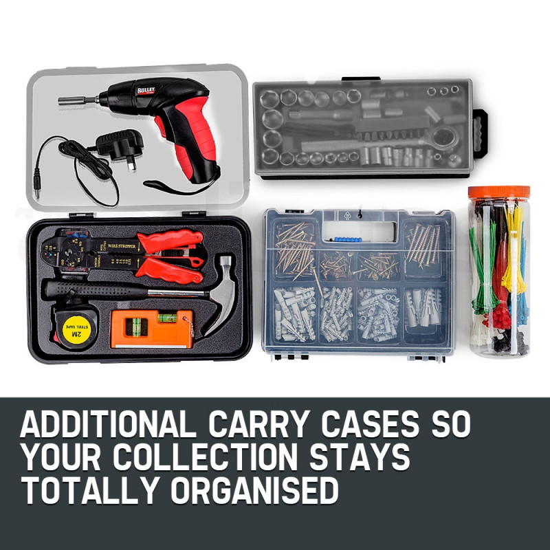 BULLET 225 Piece Metric Tool Kit Cabinet Trolley Tool Box Mechanic Toolbox Set by Bullet Pro