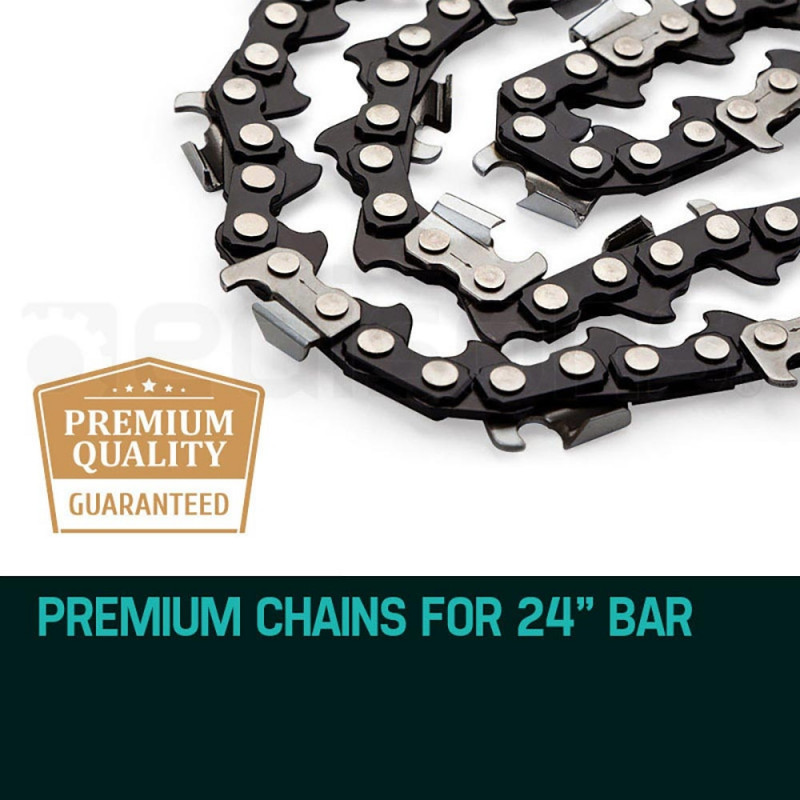 "2 X 24"" Baumr-AG Chainsaw Chain 24in Bar Replacement Suits 72CC 76CC 82CC Saws by Baumr-AG"