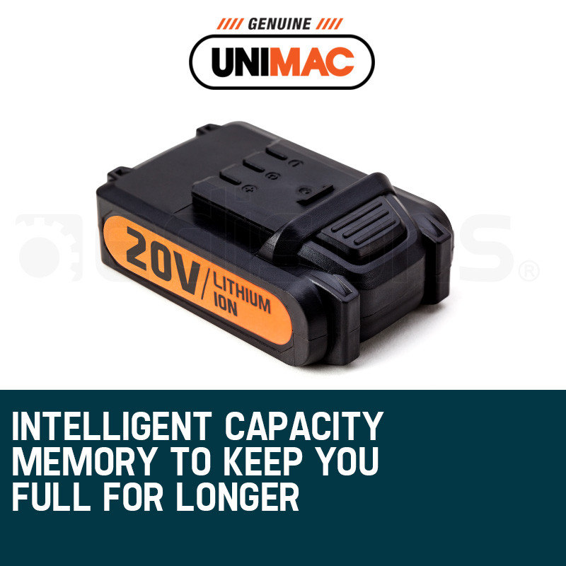UNIMAC Nailer 20V Battery Lithium Ion Rechargeable Cordless Nail Gun by Unimac